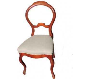 """171    Chaise """"rococo"""" toile blanche"""
