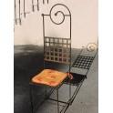 173    Chaise haute métal